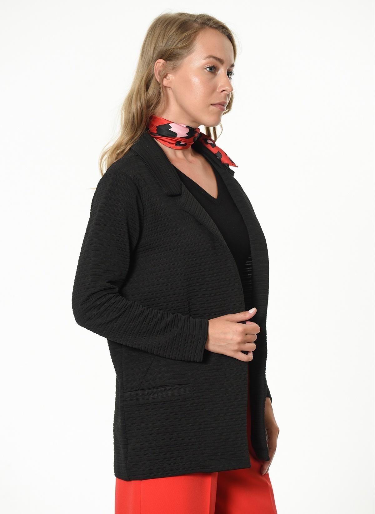 90ff1c2b7de7d Koton Kadın Uzun Blazer Ceket Black | Morhipo | 16292474